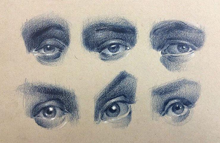 Emilio Villalba. Глаза в зарисовках. Академический рисунок