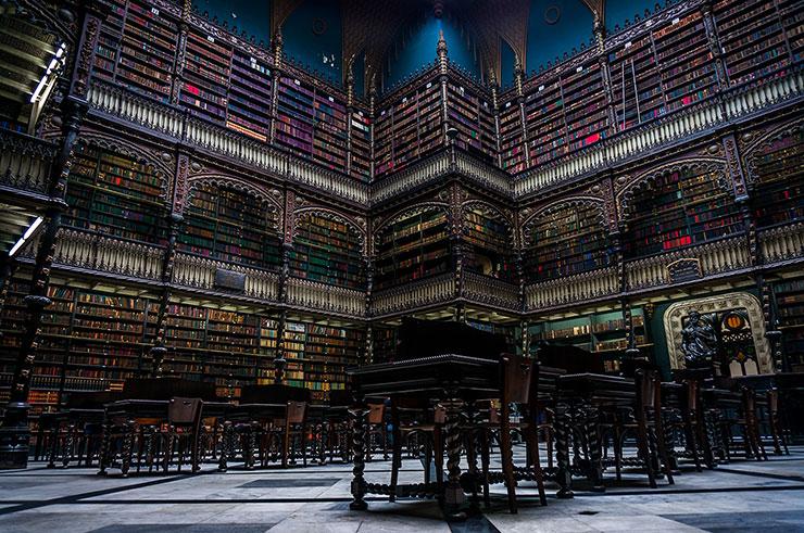 Португальская королевская библиотека Рио-де-Жанейро. Бразилия