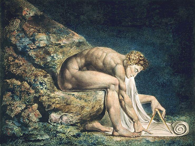 Божественный землемер. «Ньютон». Уильям Блейк. 1795